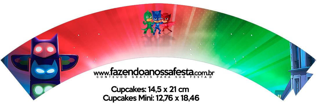 Saias Wrappers para Cupcakes PJ Masks