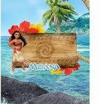Tag Agradecimento Moana Kit Festa