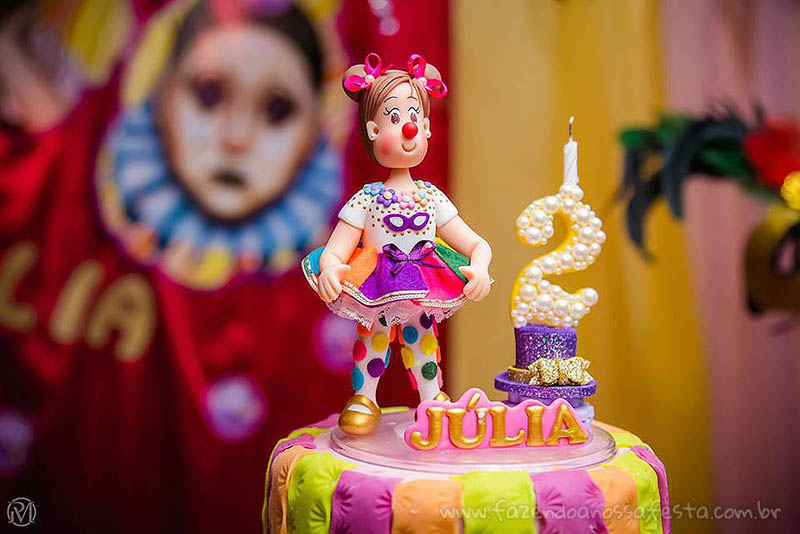 Topo Bolo Festa Carnaval da Júlia