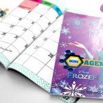 Agenda Frozen 2017 Grátis para Imprimir