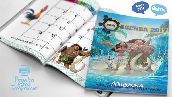 Agenda Moana 2017 para Imprimir
