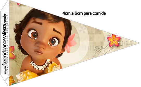 Bandeirinha Sanduiche 1 Moana Baby