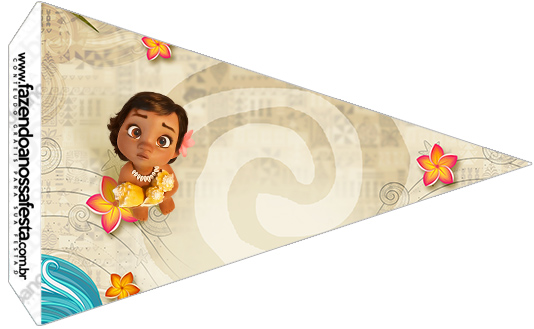 Bandeirinha Sanduíche 2 Moana Baby