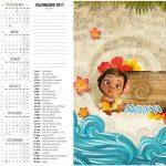 Calendário 2017 2 Moana Baby Kit Festa