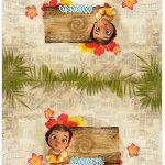 Cartão Agradecimento de mesa Moana Baby