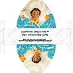Convite Vestido 83 Moana Baby