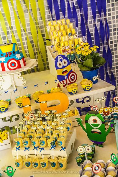 Doces Festa Minions Super Heróis 2