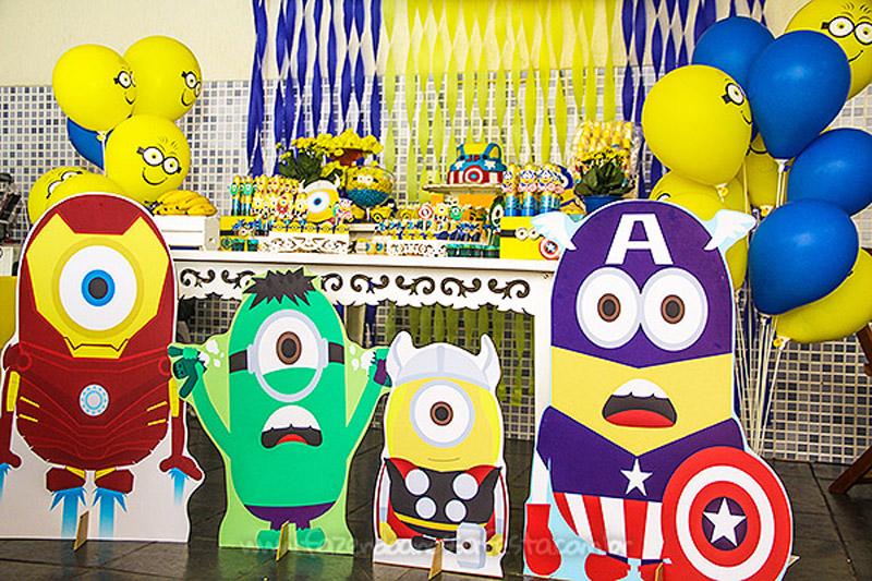 Festa Minions Super Heróis do Joao Pedro 5