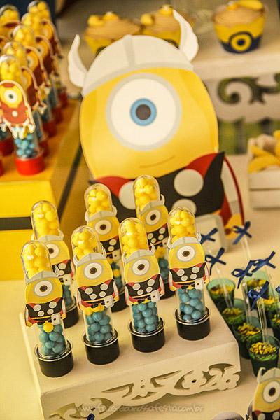 Festa Minions Super Heróis do João Pedro 6
