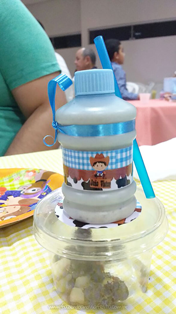 Garrafinha Chá de Bebê do João Victor