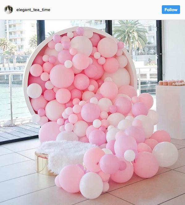 Ideia com balões - Arco de Balões Desconstruídos 15