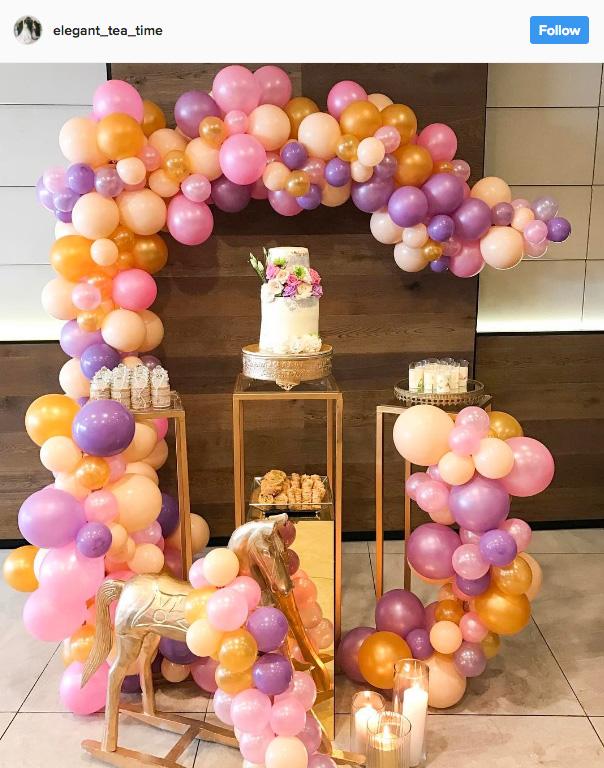 Ideia com balões - Arco de Balões Desconstruídos 24
