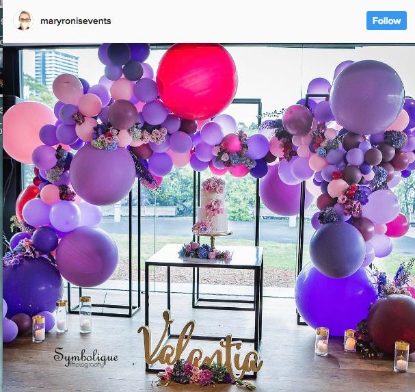 Ideia com balões - Arcos desconstruídos 27