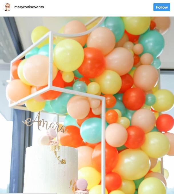 Ideia com balões - Arco de Balões Desconstruídos 4