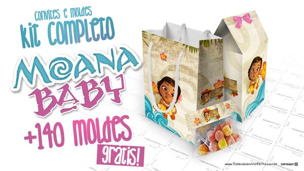 d9a62f38f6d85 Moana Baby Kit Festa + 100 Moldes Grátis para Imprimir