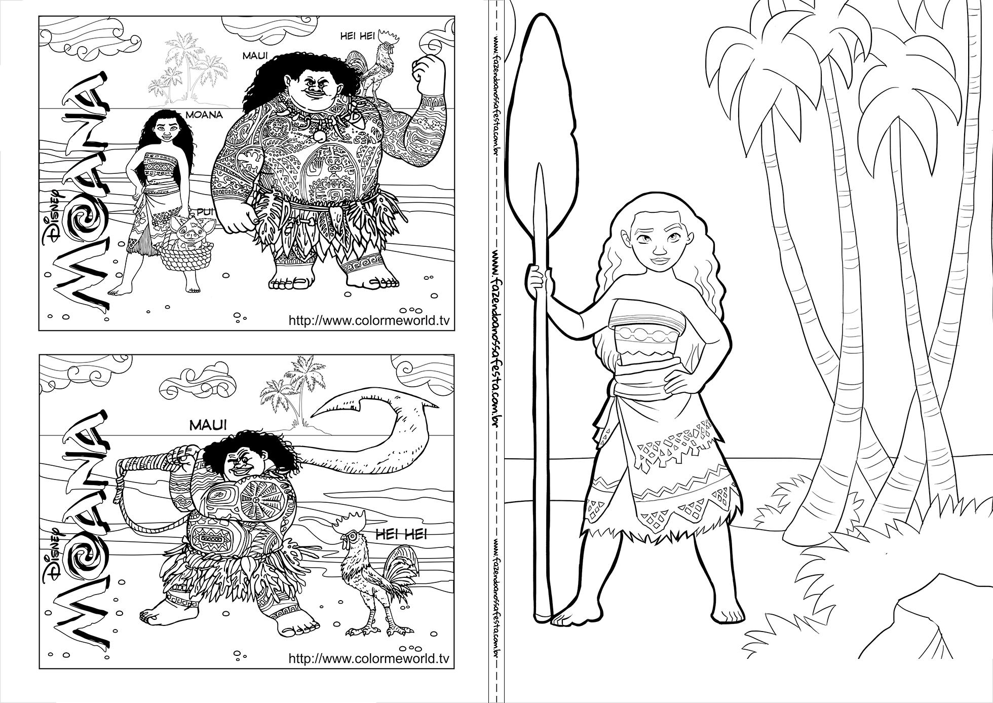Livrinho Para Colorir Moana 5