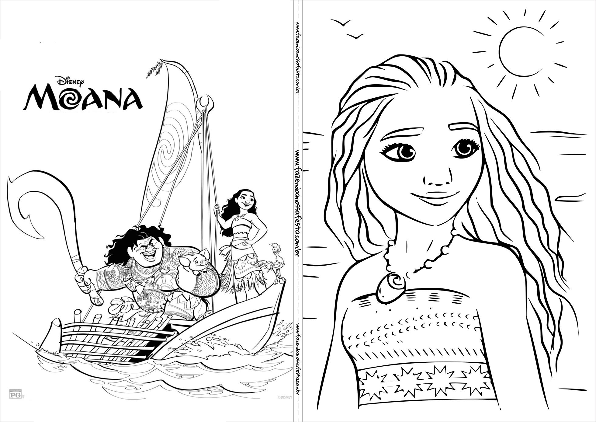 Livrinho De Colorir Moana 8