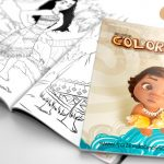 Livrinho para Colorir Moana Grátis para Imprimir