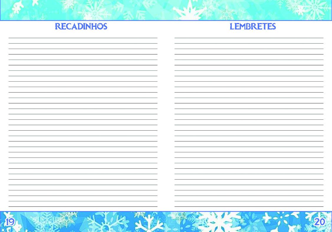 Agenda Personalizada Frozen Recados