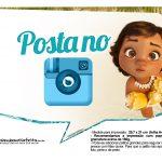 Plaquinhas para fotos Moana Baby 10