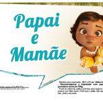 Plaquinhas para fotos Moana Baby 12