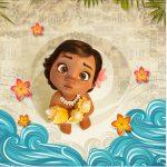 Rótulo Mini Confeti Moana Baby