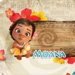 Tag Agradecimento Etiqueta Moana Baby Kit Festa