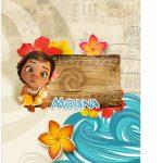 Tag Agradecimento Moana Baby Kit Festa