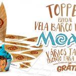 Topper Vela Barco Moana Grátis para Imprimir