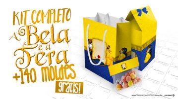 A Bela e a Fera Kit Festa Grátis