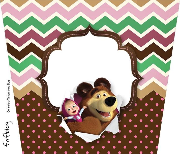 Balde de Pipoca Masha e o Urso Kit Festa