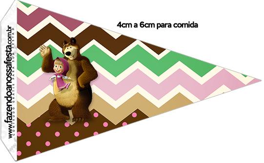 Bandeirinha Sanduiche 1 Masha e o Urso Kit