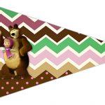 Bandeirinha Sanduiche 2 Masha e o Urso Kit