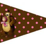 Bandeirinha Sanduiche 4 Masha e o Urso Kit
