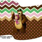 Bandeirinha Varalzinho Masha e o Urso Kit