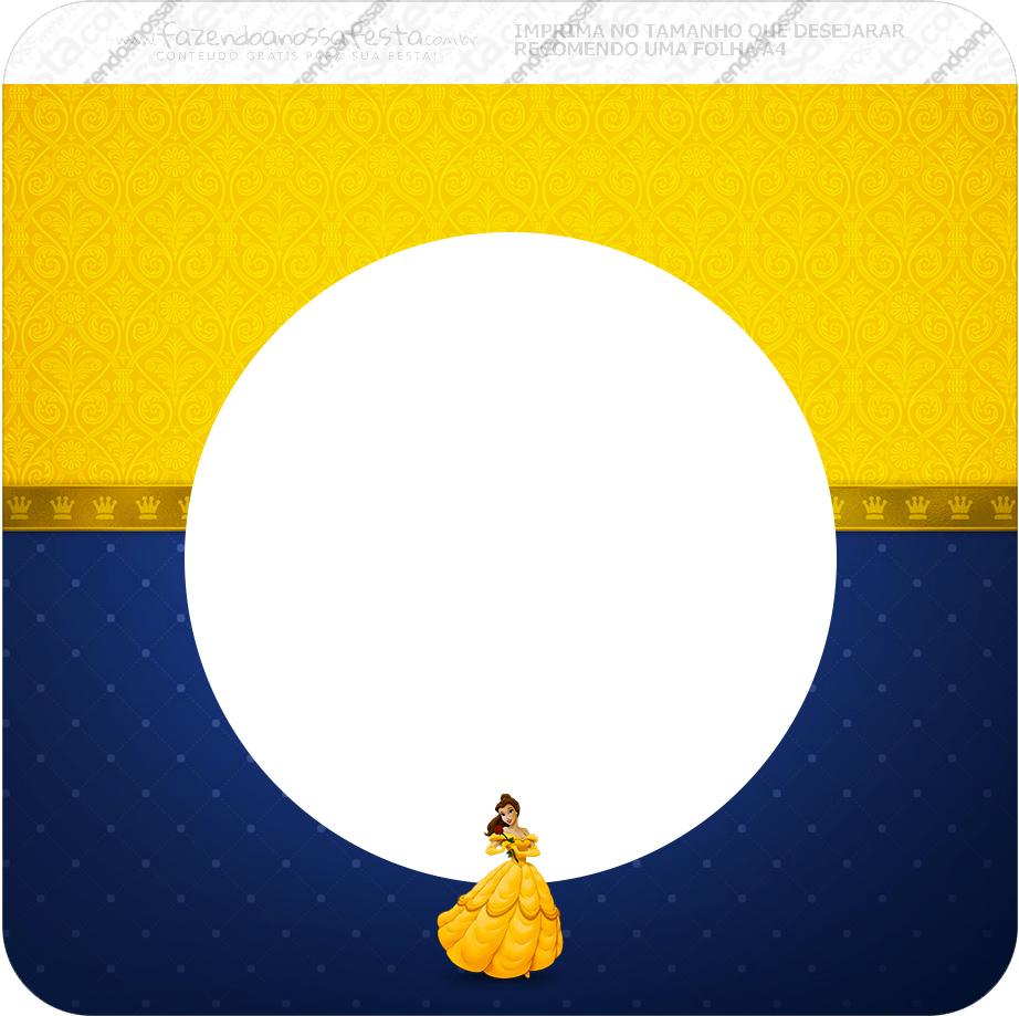 Bandeirinha Varalzinho Quadrada A Bela e a Fera