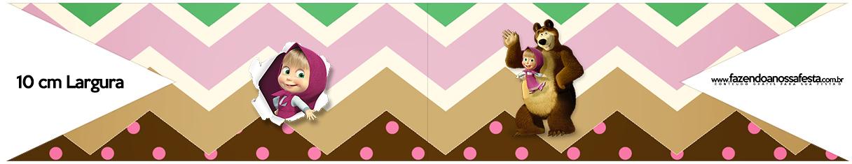 Bandeirinha para Sanduiche Masha e o Urso Kit
