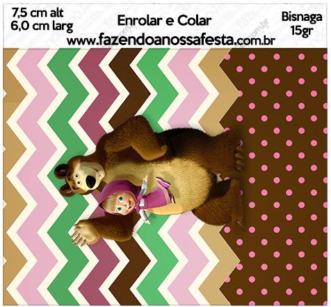 Bisnaga Brigadeiro 15gr Masha e o Urso Kit