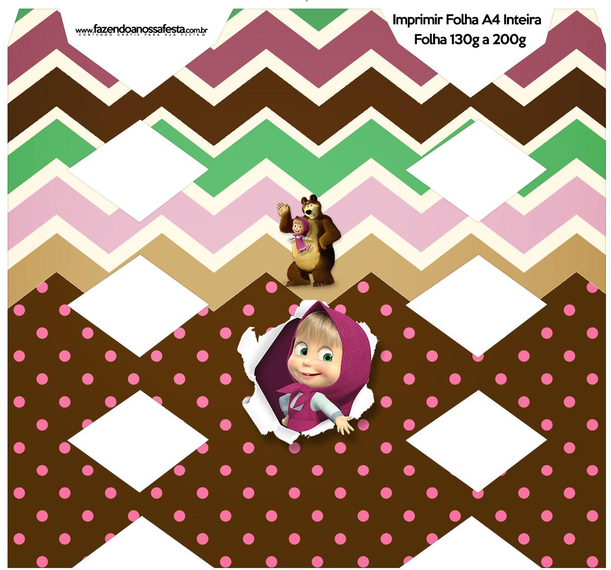Caixa Bala Masha e o Urso Kit