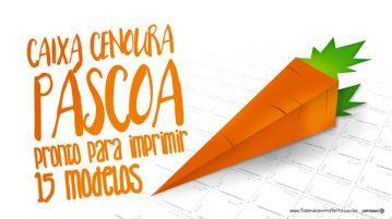 Caixa Cenoura Páscoa