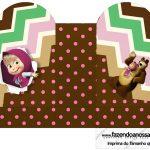 Caixa Coração Masha e o Urso Kit