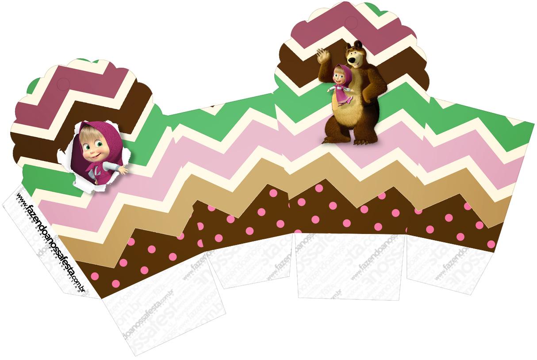 Caixa Cupcake Masha e o Urso Kit