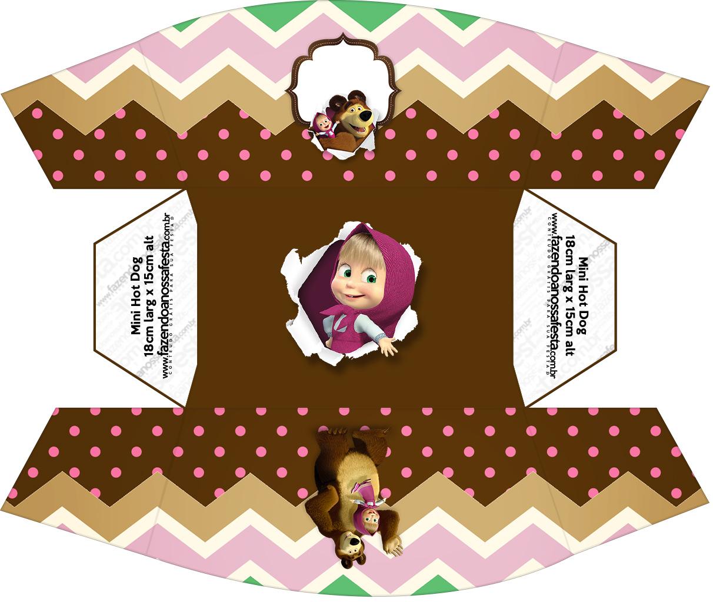 Caixa Mini Cachorro quente Masha e o Urso Kit