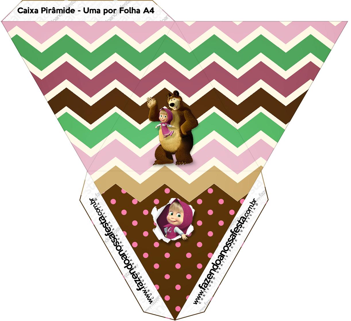 Caixa Pirâmide Masha e o Urso Kit