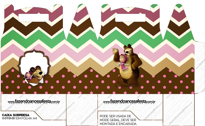Caixa bombom Masha e o Urso Kit