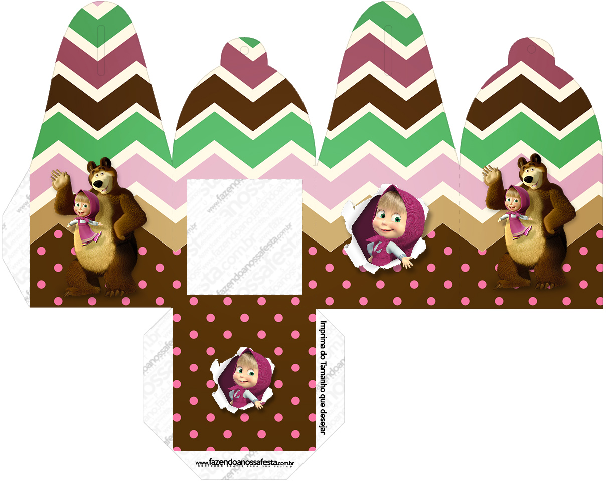 Caixa com Foto Masha e o Urso Kit
