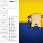 Calendário 2017 2 A Bela e a Fera