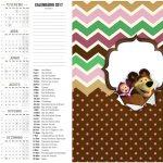 Calendário 2017 2 Masha e o Urso Kit Festa
