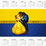 Calendario 2017 A Bela e a Fera