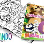 Capa Livrinho para Colorir Masha e o Urso